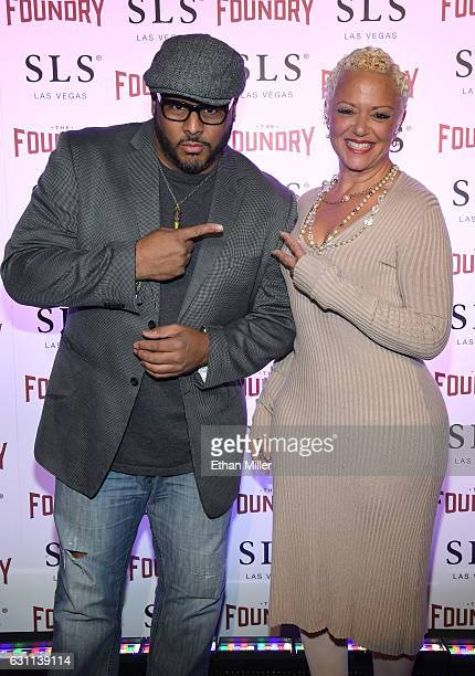 Recording artist and record producer Al B Sure and Charli B arrive at the kickoff of Dana Carvey and Jon Lovitz's 20show residency 'Reunited' at The...