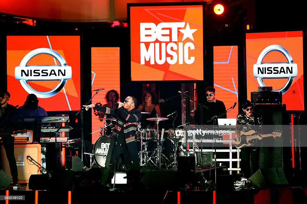 Recording artist Anderson .Paak (C) and The Free Nationals perform onstage during the 2016 BET Awards at the Microsoft Theater on June 26, 2016 in Los Angeles, California.