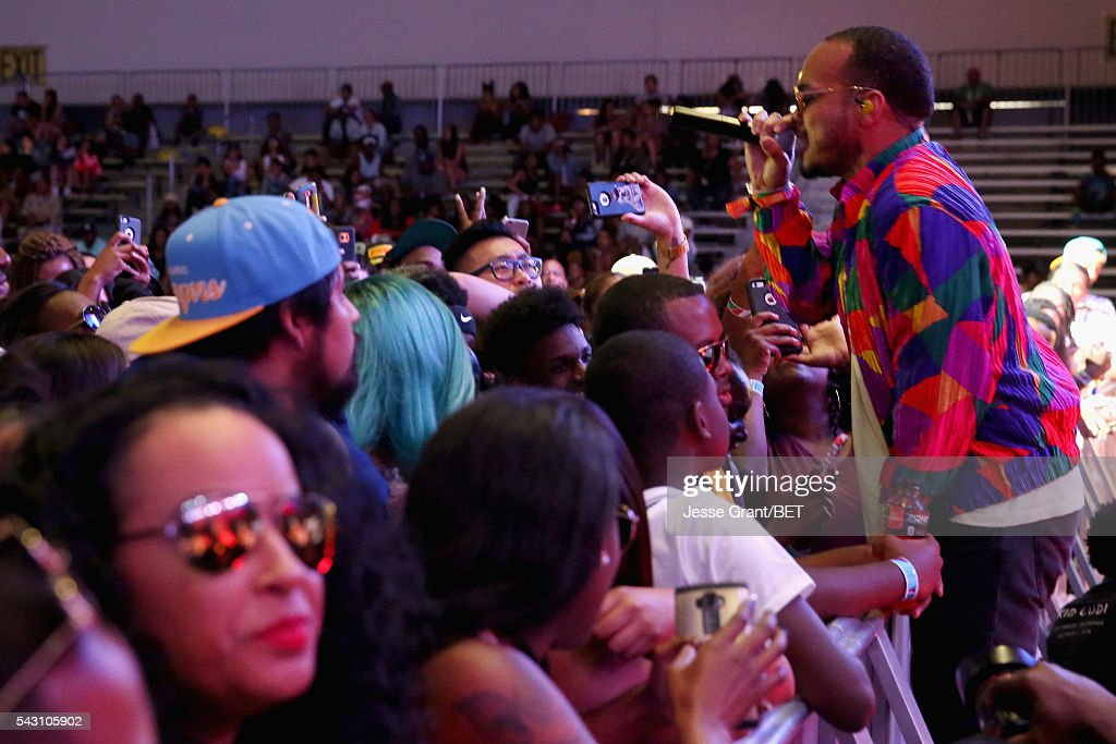 Recording artist Anderson .Paak performs on the BETX Stage sponsored by Nissan during the 2016 BET Experience on June 25, 2016 in Los Angeles, California.
