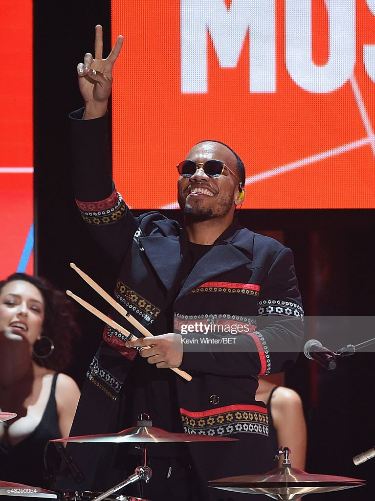 Recording artist Anderson .Paak performs onstage during the 2016 BET Awards at the Microsoft Theater on June 26, 2016 in Los Angeles, California.