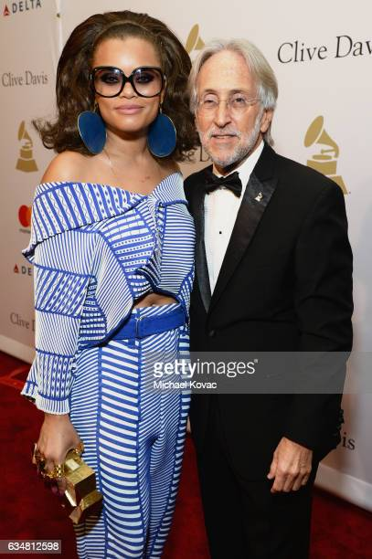 Recording artist Andra Day and President/CEO of The Recording Academy and GRAMMY Foundation President/CEO Neil Portnow attend PreGRAMMY Gala and...