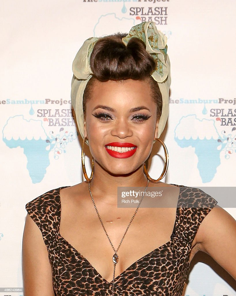Recording Artist Andra Day arrives at the Samburu Splash Bash Event on September 27 2014 in Santa Monica California