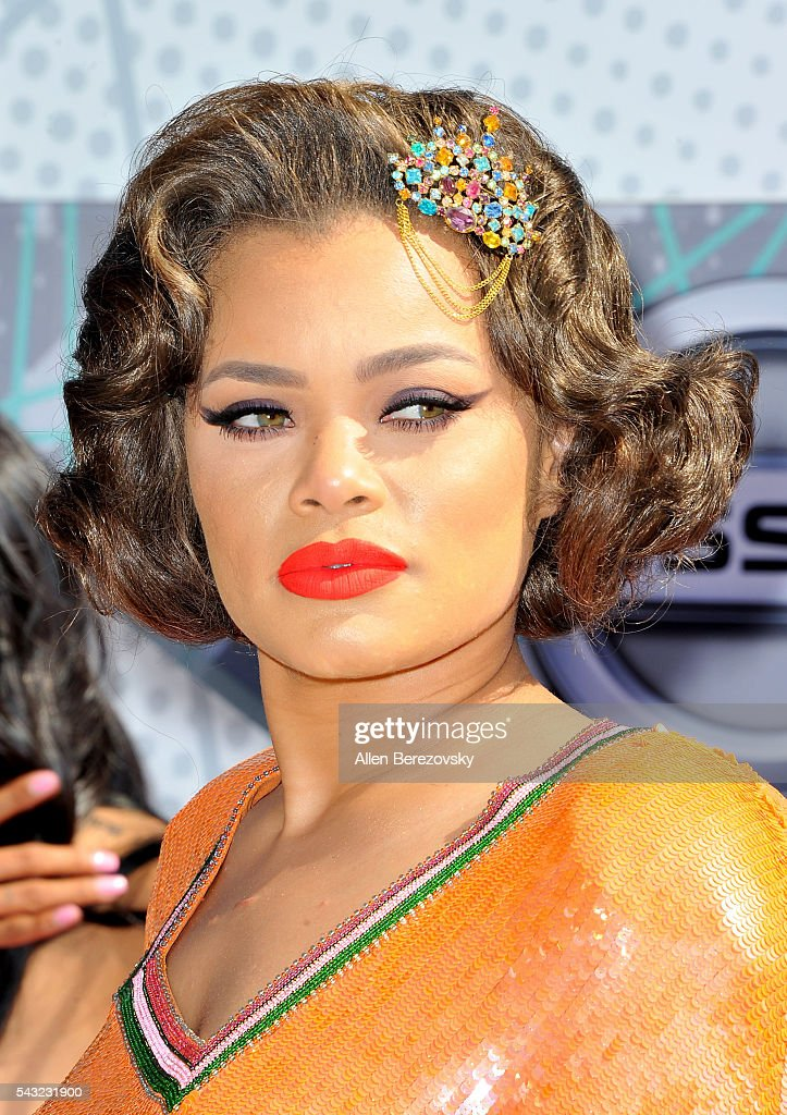 Recording artist <a gi-track='captionPersonalityLinkClicked' href=/galleries/search?phrase=Andra+Day&family=editorial&specificpeople=10196811 ng-click='$event.stopPropagation()'>Andra Day</a> attends the 2016 BET Awards at Microsoft Theater on June 26, 2016 in Los Angeles, California.