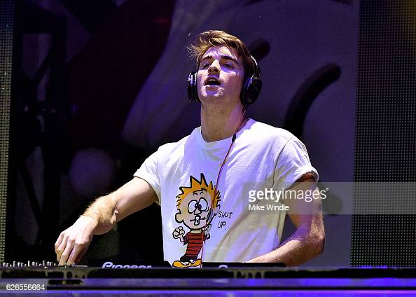 Recording artist Andrew Taggart of music group The Chainsmokers performs onstage at 1061 KISS FM's Jingle Ball 2016 presented by Capital One at...
