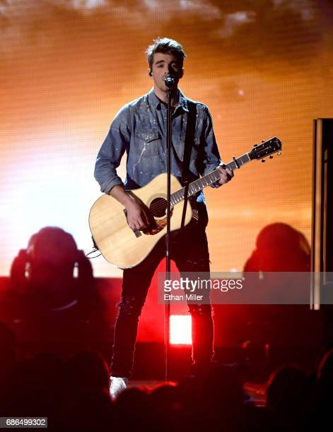 Recording artist Andrew Taggart of The Chainsmokers performs onstage during the 2017 Billboard Music Awards at TMobile Arena on May 21 2017 in Las...