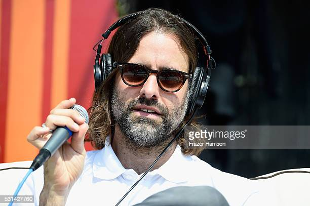 Recording artist Andrew Wyatt of music group Miike Snow partcipates in an interview session at KROQ Weenie Roast 2016 at Irvine Meadows Amphitheatre...