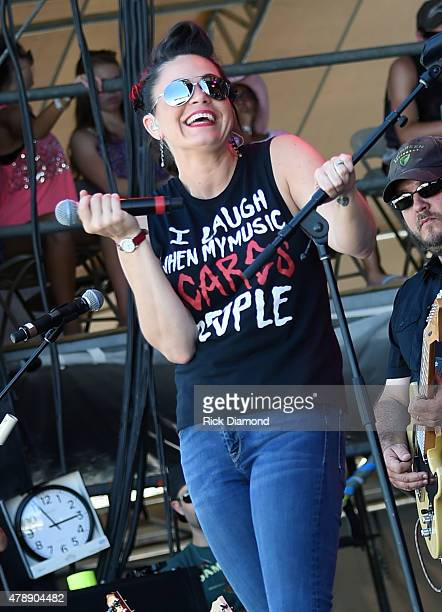 Recording Artist Angaleena Presley performs during the 20th Anniversaty of Kicker Country Stampede Manhattan Kansas Day 4 on June 28 2015 at Tuttle...