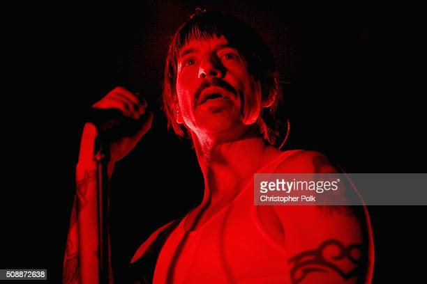 Recording artist Anthony Kiedis of Red Hot Chili Peppers performs onstage during DirecTV Super Saturday Night cohosted by Mark Cuban's AXS TV at Pier...