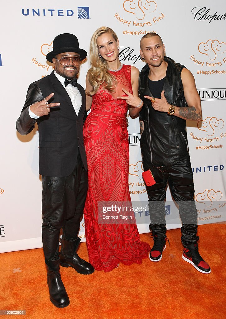 Recording artist Apl.de.ap, Petra Nemcova and Taboo attend the Happy Hearts Fund 10 year anniversary tribute of the Indian Ocean tsunami at Cipriani 42nd Street on June 19, 2014 in New York City.