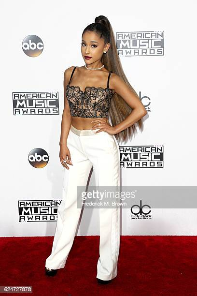Recording artist Ariana Grande attends the 2016 American Music Awards at Microsoft Theater on November 20 2016 in Los Angeles California