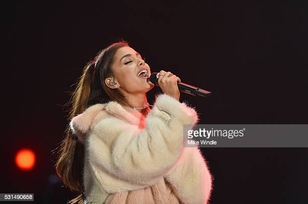 Recording artist Ariana Grande performs on stage at KIIS FM's Wango Tango 2016 at StubHub Center on May 14 2016 in Carson California