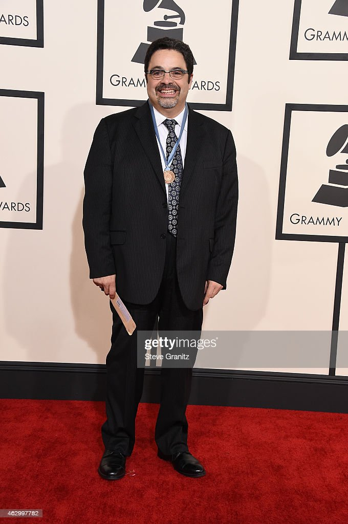 Recording artist <a gi-track='captionPersonalityLinkClicked' href=/galleries/search?phrase=Arturo+O%27Farrill&family=editorial&specificpeople=6649010 ng-click='$event.stopPropagation()'>Arturo O'Farrill</a> attends The 57th Annual GRAMMY Awards at the STAPLES Center on February 8, 2015 in Los Angeles, California.