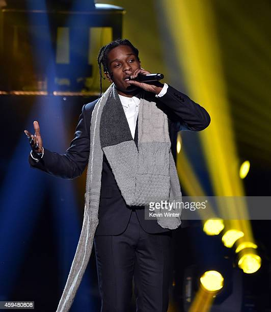 Recording artist ASAP Rocky performs onstage at the 2014 American Music Awards at Nokia Theatre LA Live on November 23 2014 in Los Angeles California