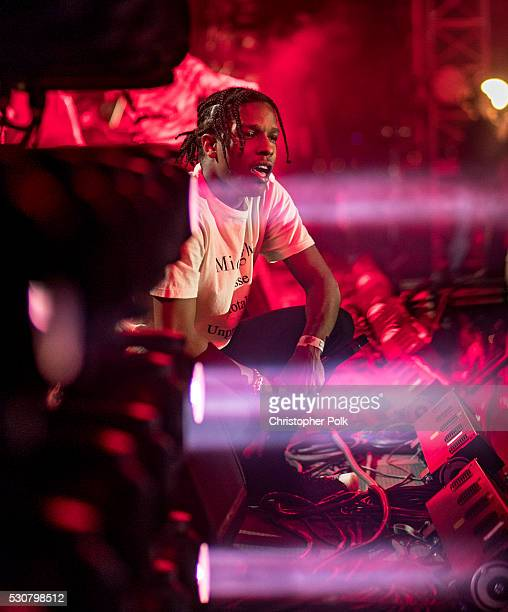 Recording artist ASAP Rocky performs onstage during 2016 Coachella Valley Music And Arts Festival at the Empire Polo Field on April 22 2016 in Indio...