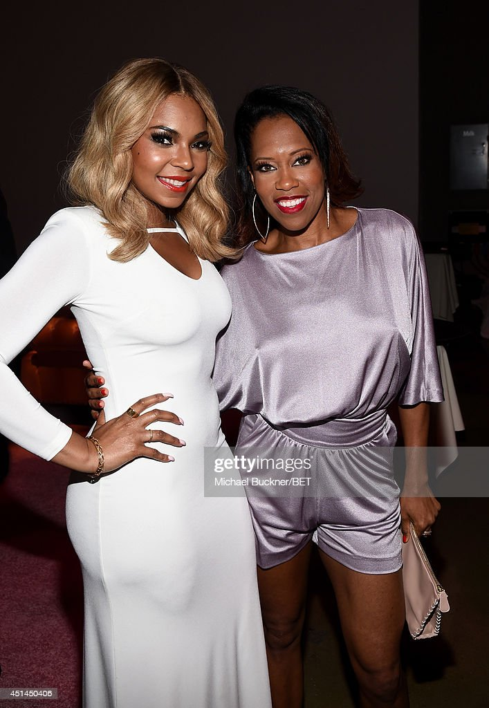 Recording artist <a gi-track='captionPersonalityLinkClicked' href=/galleries/search?phrase=Ashanti&family=editorial&specificpeople=146300 ng-click='$event.stopPropagation()'>Ashanti</a> (L) and actress <a gi-track='captionPersonalityLinkClicked' href=/galleries/search?phrase=Regina+King&family=editorial&specificpeople=202510 ng-click='$event.stopPropagation()'>Regina King</a> attend the BET AWARDS '14 Debra Lee's Pre-Dinner held at Milk Studios on June 28, 2014 in Los Angeles, California.