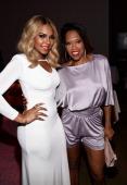 Recording artist Ashanti and actress Regina King attend the BET AWARDS '14 Debra Lee's PreDinner held at Milk Studios on June 28 2014 in Los Angeles...