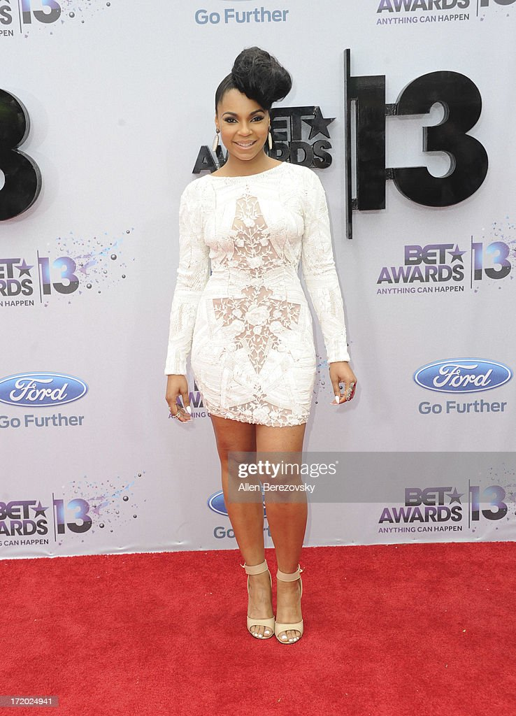 Recording artist <a gi-track='captionPersonalityLinkClicked' href=/galleries/search?phrase=Ashanti&family=editorial&specificpeople=146300 ng-click='$event.stopPropagation()'>Ashanti</a> attends 2013 BET Awards - Arrivals at Nokia Plaza L.A. LIVE on June 30, 2013 in Los Angeles, California.