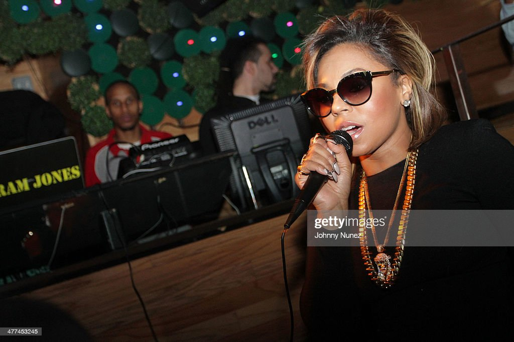 Recording artist <a gi-track='captionPersonalityLinkClicked' href=/galleries/search?phrase=Ashanti&family=editorial&specificpeople=146300 ng-click='$event.stopPropagation()'>Ashanti</a> attends her 'Brave Heart' Album Release Party at Greenhouse on March 8, 2014, in New York City.
