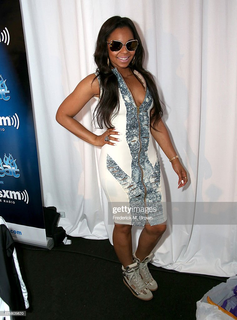 Recording artist <a gi-track='captionPersonalityLinkClicked' href=/galleries/search?phrase=Ashanti&family=editorial&specificpeople=146300 ng-click='$event.stopPropagation()'>Ashanti</a> attends Radio Room Day 1 during the 2013 BET Awards at JW Marriott Los Angeles at L.A. LIVE on June 28, 2013 in Los Angeles, California.