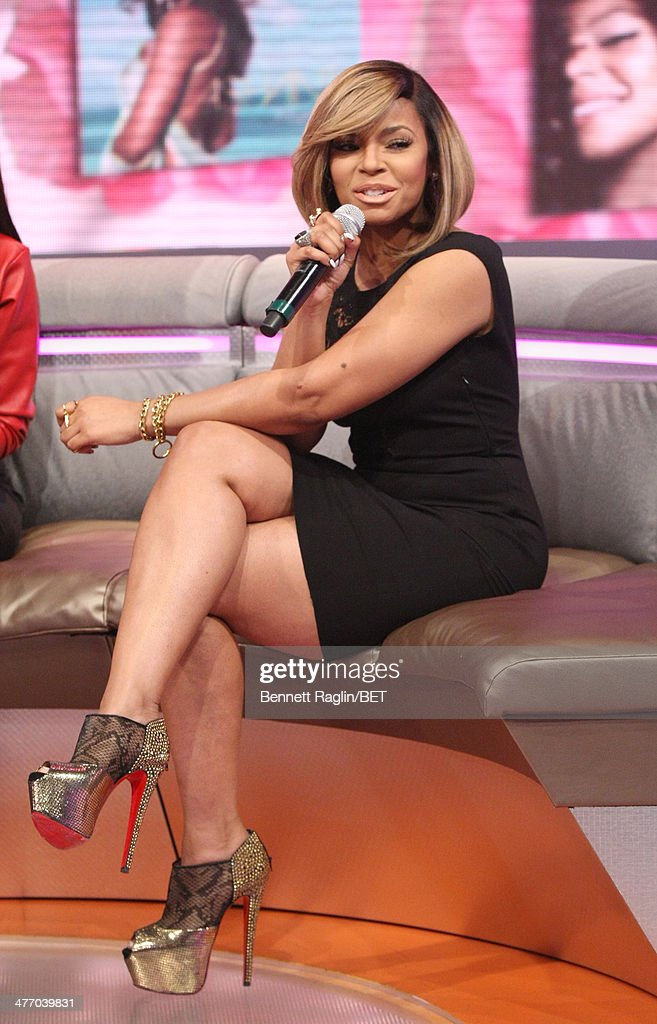 Recording artist Ashanti visits 106 Park at BET studio on March 3 2014 in New York City