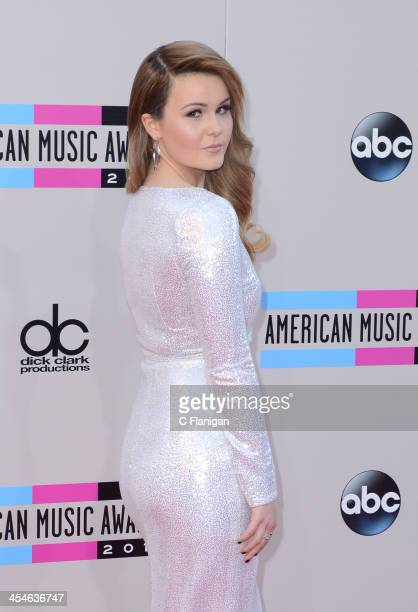 Recording artist Ashlee Keating arrives at the 2013 American Music Awards at Nokia Theatre LA Live on November 24 2013 in Los Angeles California