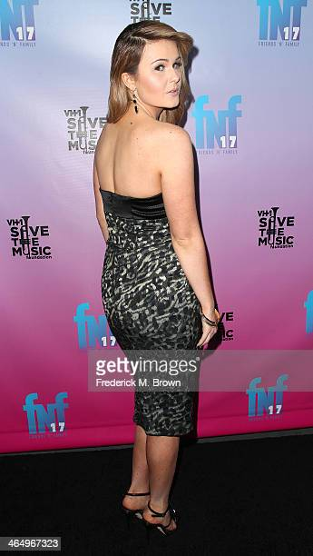 Recording artist Ashlee Keating attends Friends 'N' Family 17th Annual PreGrammy Party at the Park Plaza Hotel on January 24 2014 in Los Angeles...