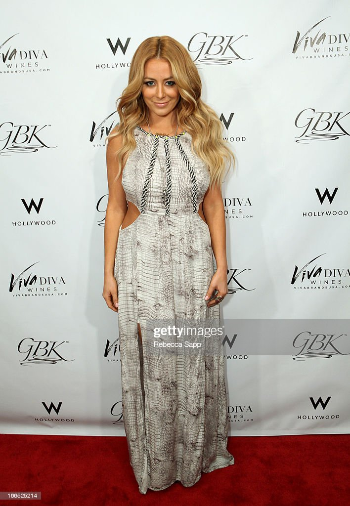 Recording artist Aubrey O'Day at GBK Gift Lounge In Honor Of The MTV Movie Award Nominees And Presenters - Day 2 at W Hollywood on April 13, 2013 in Hollywood, California.