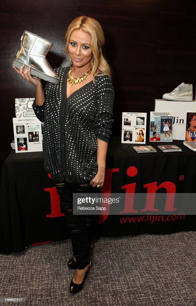 Recording artist Aubrey O'Day at GBK Musical Lounge With Invited Nominees And Presenters Of The American Music Awards at Andaz on November 16, 2012 in West Hollywood, California.