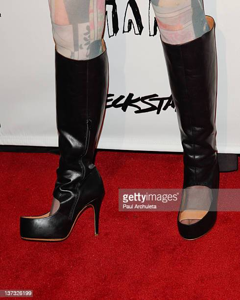 Recording Artist Audrey Napoleon attends Steve Aoki's 'Wonderland' record release party and red carpet event at SupperClub Los Angeles on January 18...