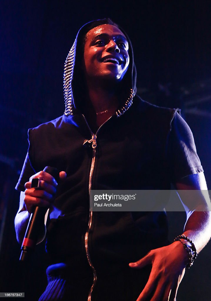 Recording Artist Austin Brown performs for the Myspace LIVE Series at Key Club on November 19, 2012 in West Hollywood, California.