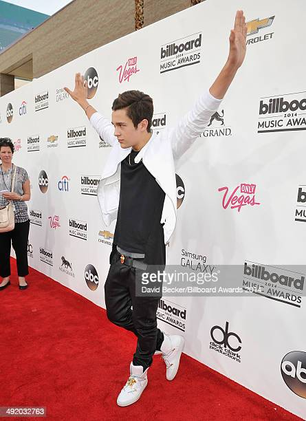 Recording artist Austin Mahone attends the 2014 Billboard Music Awards at the MGM Grand Garden Arena on May 18 2014 in Las Vegas Nevada