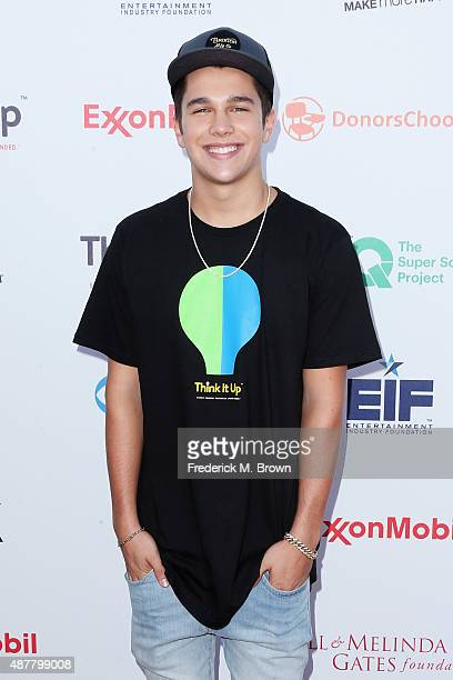 Recording artist Austin Mahone attends the Think It Up education initiative telecast for teachers and students hosted by Entertainment Industry...