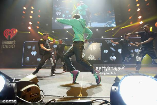 Recording artist Austin Mahone performs onstage during KIIS FM's Jingle Ball 2013 at Staples Center on December 6 2013 in Los Angeles CA