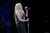 Recording Artist Avril Lavigne performs at the opening ceremony of the Special Olympics World Games Los Angeles 2015 at Los Angeles Memorial Coliseum...