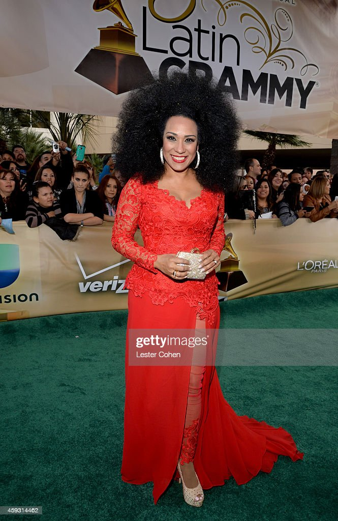 Recording artist Aymee Nuviola attends the 15th annual Latin GRAMMY Awards at the MGM Grand Garden Arena on November 20, 2014 in Las Vegas, Nevada.