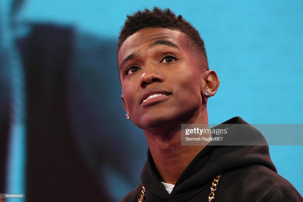 Recording artist B Smyth visits 106 & Park at 106 & Park studio on October 22, 2013 in New York City.