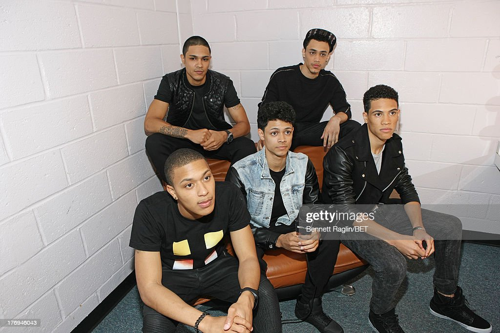 Recording artist B5 visit 106 & Park at 106 & Park Studio on August 19, 2013 in New York City.