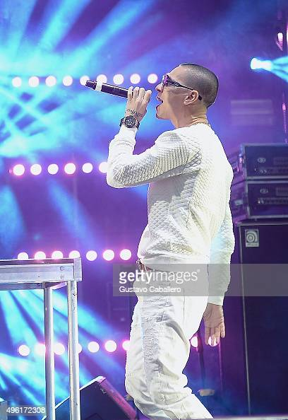 Recording artist Baby Rasta of Baby Rasta y Gringo performs onstage at the iHeartRadio Fiesta Latina preshow presented by Sprint at Bayfront Park...