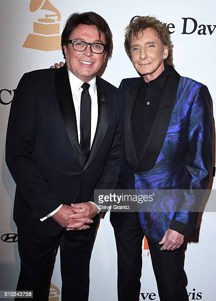 Recording artist Barry Manilow and Garry Kief attend the 2016 PreGRAMMY Gala and Salute to Industry Icons honoring Irving Azoff at The Beverly Hilton...