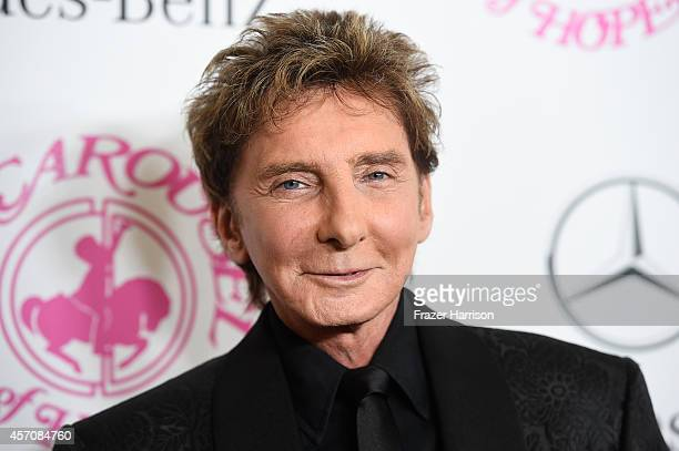 Recording artist Barry Manilow attends the 2014 Carousel of Hope Ball presented by MercedesBenz at The Beverly Hilton Hotel on October 11 2014 in...