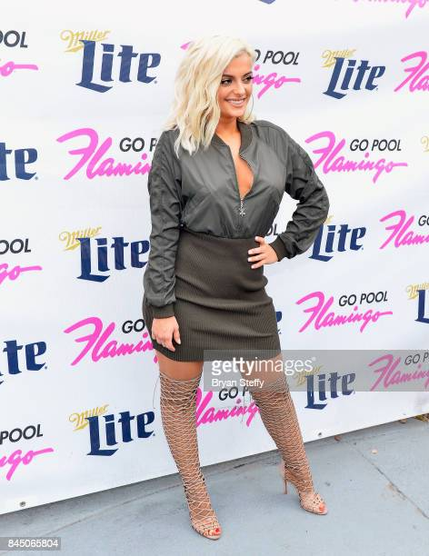 Recording artist Bebe Rexha arrives at the Flamingo GO pool at Flamingo Las Vegas on September 9 2017 in Las Vegas Nevada