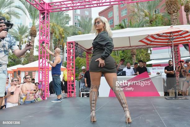 Recording artist Bebe Rexha performs at the Flamingo GO pool at Flamingo Las Vegas on September 9 2017 in Las Vegas Nevada