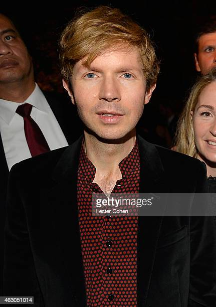 Recording artist Beck attends Universal Music Group 2015 Grammy After Party presented by American Airlines and Citi on February 8 2015 in Los Angeles...