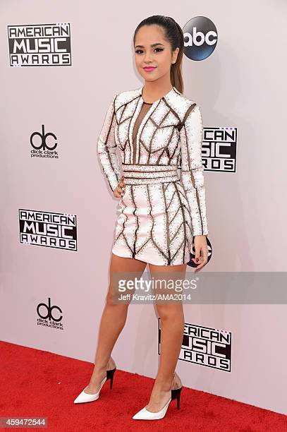 Recording artist Becky G attends the 2014 American Music Awards at Nokia Theatre LA Live on November 23 2014 in Los Angeles California