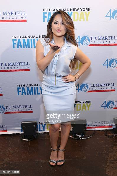 Recording artist Becky G attends the TJ Martell Foundation's 16th Annual New York Family Day at Brooklyn Bowl on December 13 2015 in New York City
