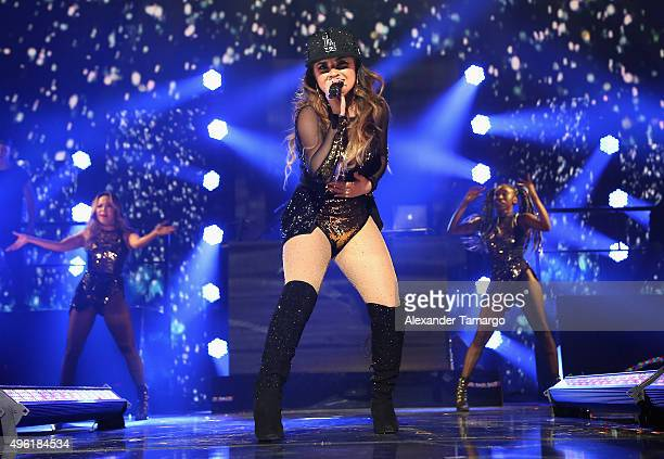 Recording artist Becky G performs onstage at iHeartRadio Fiesta Latina presented by Sprint at American Airlines Arena on November 7 2015 in Miami...