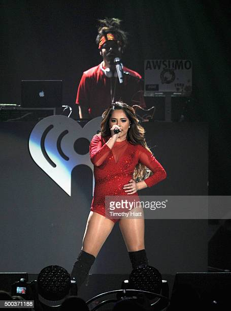 Recording artist Becky G performs onstage during 1013 KDWB's Jingle Ball 2015 at Xcel Energy Center on December 7 2015 in St Paul Minnesota