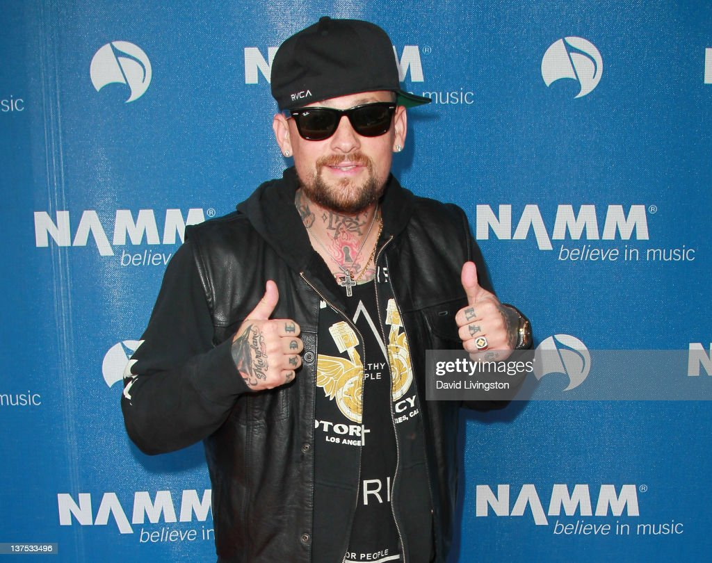 Recording artist Benji Madden attends the 110th NAMM Show - Day 3 at the Anaheim Convention Center on January 21, 2012 in Anaheim, California.