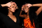 Recording artist Beyonce Knowles and recording artist Solange Knowles attend recording artist Solange Knowles' birthday party held at a private...