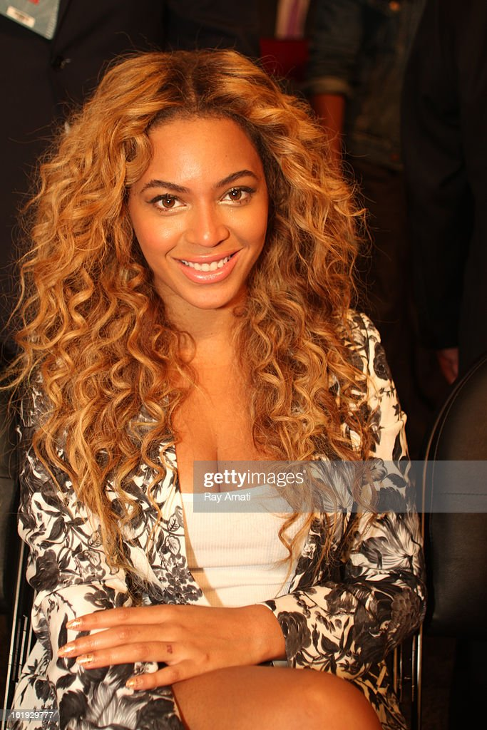 Recording artist Beyonce looks on during the 2013 NBA All-Star Game during All Star Weekend on February 17, 2013 at the Toyota Center in Houston, Texas.